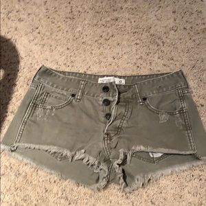 Abercrombie and Fitch army green shorts